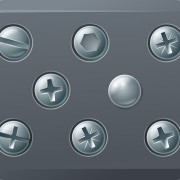Link toSet of metal background with screws vector 02