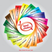 Link toSet of best choice sticker vector graphic 05