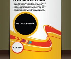 Cover brochure design art vector 01