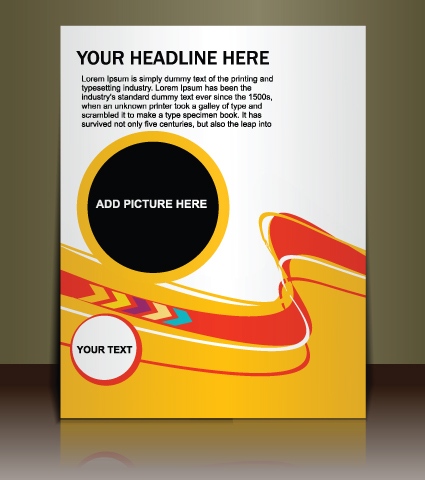 cover brochure design art vector 01 free download