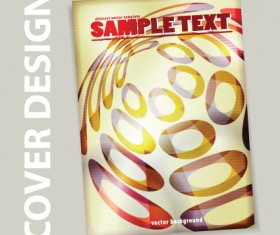 Cover brochure design art vector 02