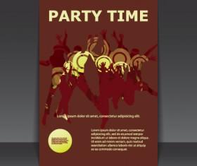 Cover brochure design art vector 05