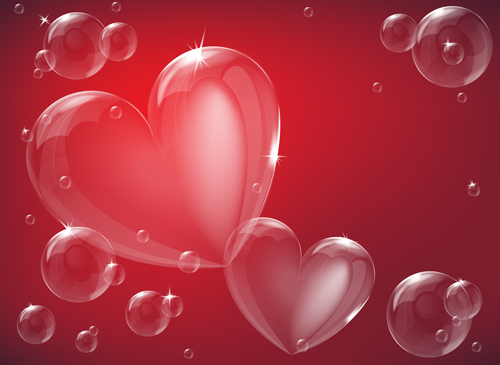 bubble hearts vector free download