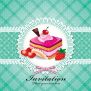 Link toCute cake cards design elements vector 05