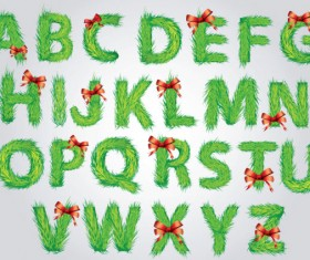 Vector set of Creative letters design element material 01