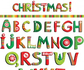 Vector set of Creative letters design element material 02