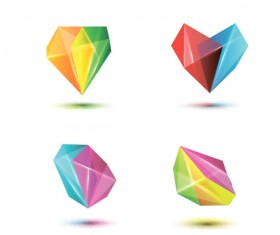 Set of Colored Abstract logo design elements vector 03