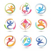 Link toSet of colored abstract logo design elements vector 04