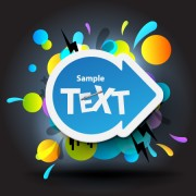 Link toBright colored elements and labels vector 02