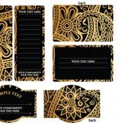 Link toLuxurious flower cards design vector 02