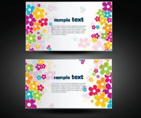 Vector set of flowers business card design 01