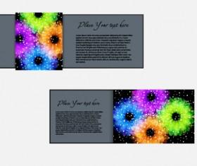 Vector set of flowers business card design 03