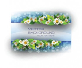 Beautiful flowers frame backgrounds vector 02
