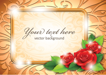 Beautiful Flowers Frame Backgrounds Vector 03 Free Download