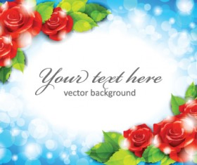 Beautiful flowers frame backgrounds vector 04