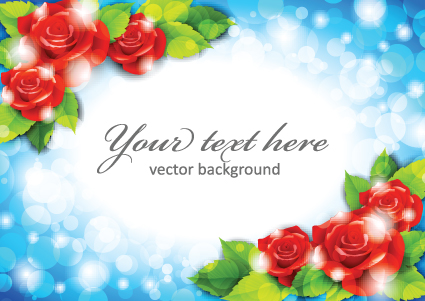 Beautiful Flowers Frame Backgrounds Vector 04 Free Download