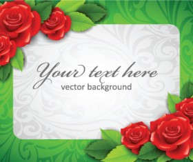 Beautiful flowers frame backgrounds vector 05
