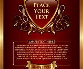 Set of vintage gold frame design vector 01