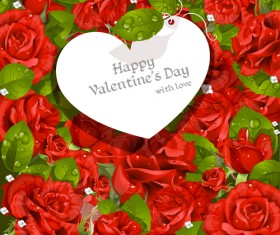 Valentine Day love backgrounds vector 04