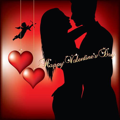 Romantic Love background with Valentine vector 01 - Vector Background free download - 웹