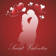 Link toRomantic love background with valentine vector 02