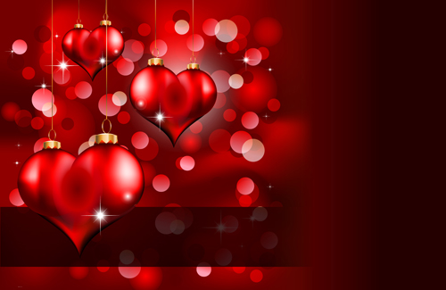 Romantic Love Background With Valentine Vector 05 Free