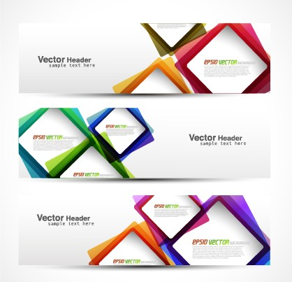 Of Modern Banner Design Elements 02 Vector Banner Free Download