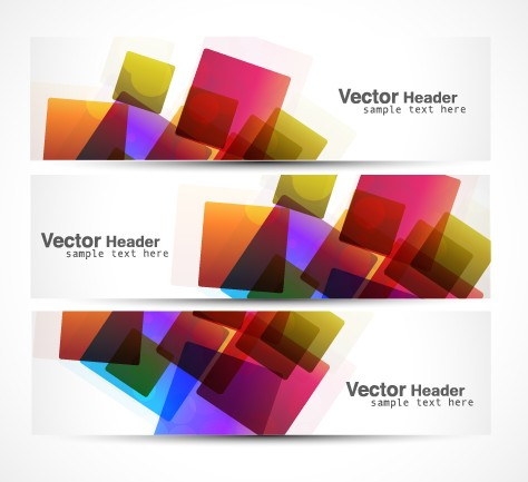 Vector heard of modern banner design elements 04