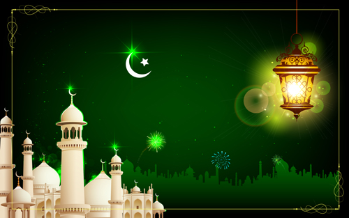 Mosque Night Backgrounds Vector 03 Free Download-7296