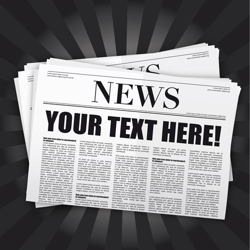 Elements of Newspaper design vector graphics 01