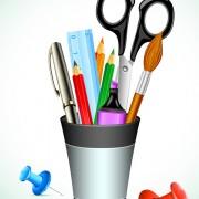 Link toPen office accessories vector set 03