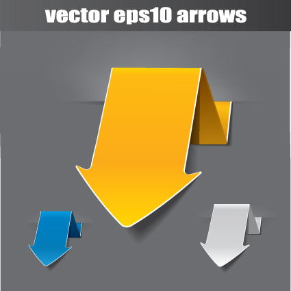 Vector set of origami arrow design material 04