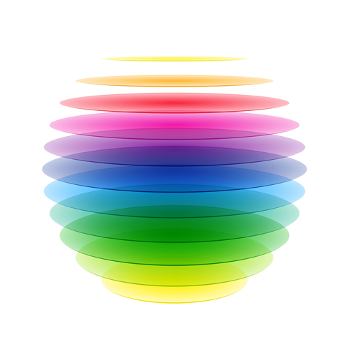 Colorful Rainbow Background Vector Material 02 Vector