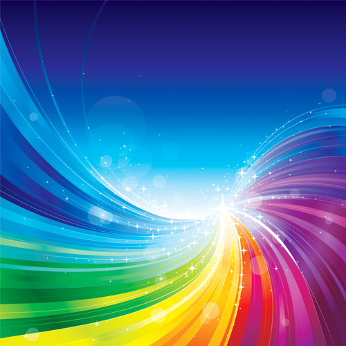 vector shiny rainbow background 03 free download