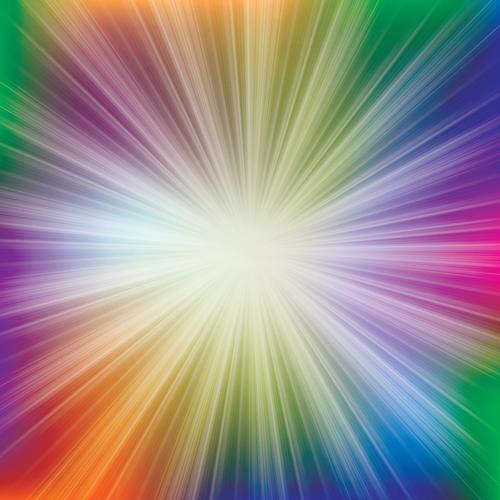 Vector Shiny Rainbow background 04