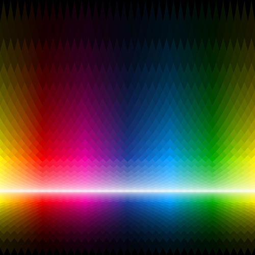 Colorful Rainbow background vector material 05