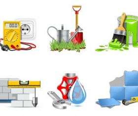 Different repair and construction mix vector icon 04