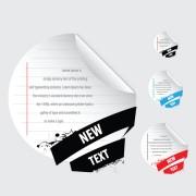 Link toSet of original stickers design vector 01