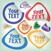 Link toSet of original stickers design vector 02