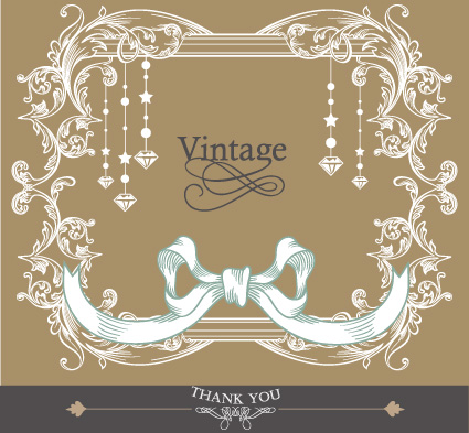 ... of wedding card design elements vector 02 - Vector Card free download