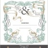 Set of wedding card design elements vector 03