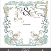 Link toSet of wedding card design elements vector 03