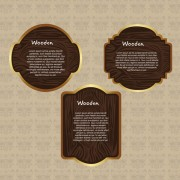Link toVector set of wooden labels elements 02