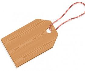 Vector set of Wooden labels elements 04
