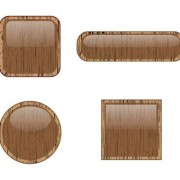 Link toVector set of wooden labels elements 07
