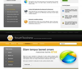 Green and orange style Website psd templates