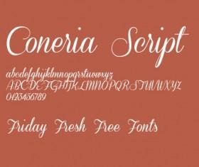 Coneria Script Slanted font