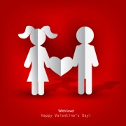 Link toPaper people with heart vector