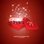 Link toShiny valentine gift box vector background
