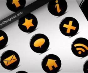 Black and orange texture web icon